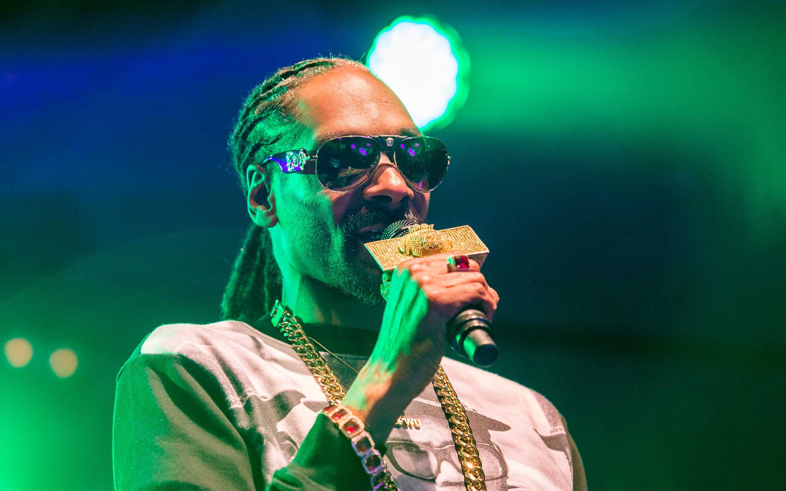 US rapper Snoop Dogg performing in Uppsala, Sweden, on July 25, 2015.