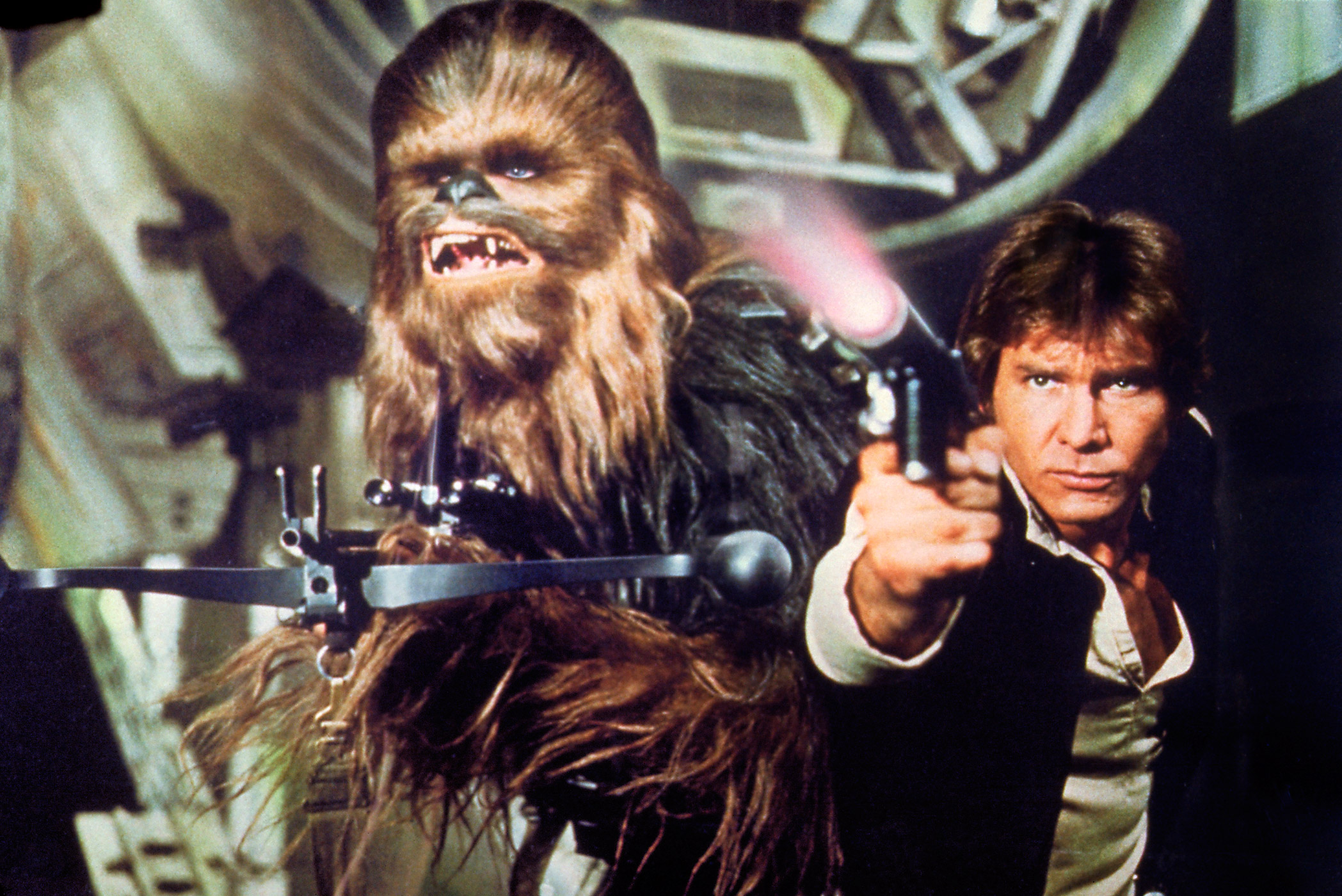 Harrison Ford stars as Han Solo in Star Wars