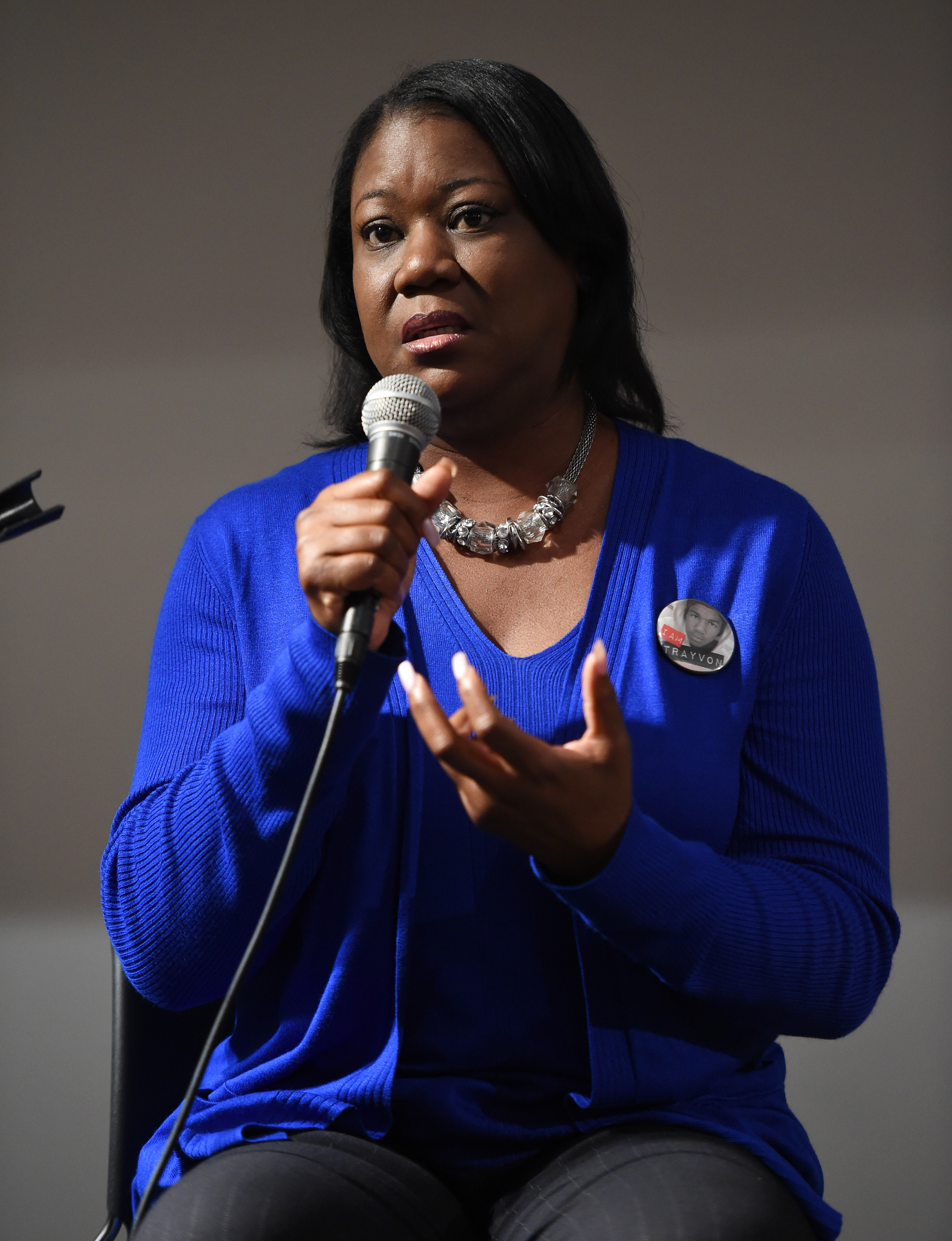 Activist Sybrina Fulton participates in a panel conversation at the Manifest: Justice pop-up art space on May 6, 2015 in Los Angeles.