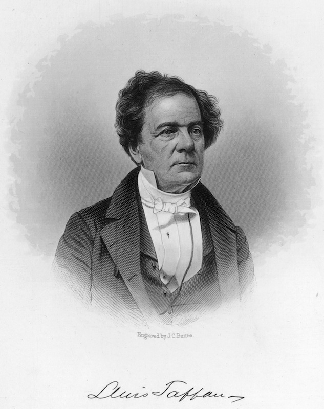 Circa 1840:  Lewis Tappan (1788-1873). American merchant and abolitionist who founded the first United States agency for rating commercial credit in 1841. Original Artwork: Engraving by J C Buttre
