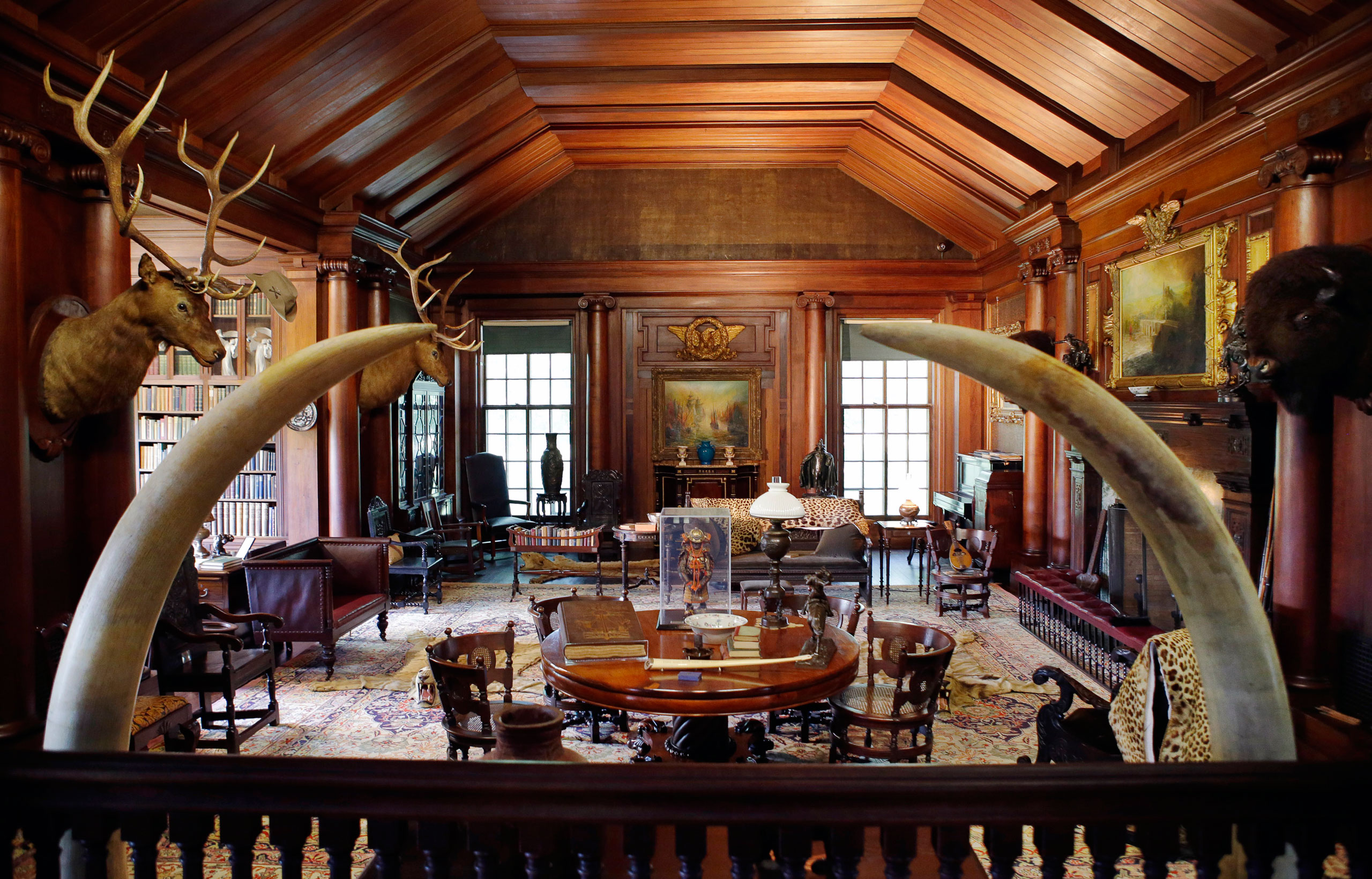 The North Room, President Theodore Roosevelt's  trophy room,  at Sagamore Hill, his summer White House in Oyster Bay, N.Y., on June 9, 2015.