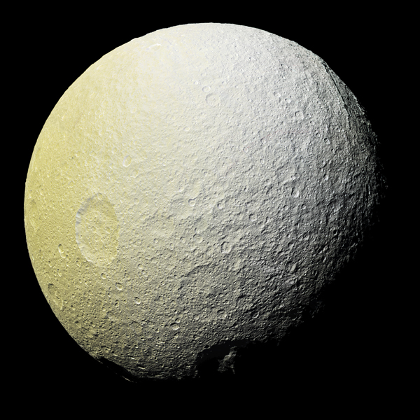 Tethys, one of Saturn's moons