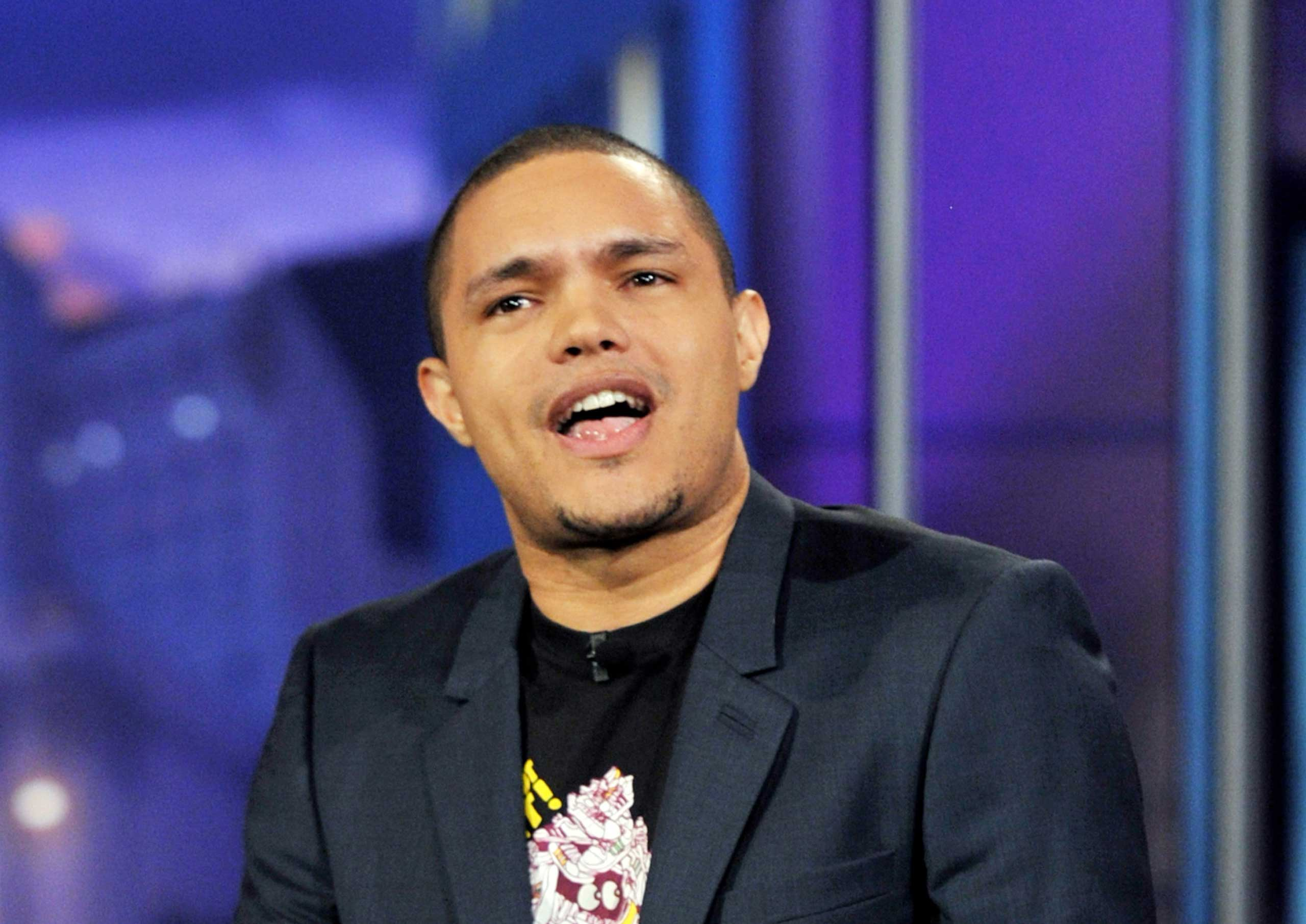 Comedian Trevor Noah performs on the Tonight Show With Jay Leno in 2012.