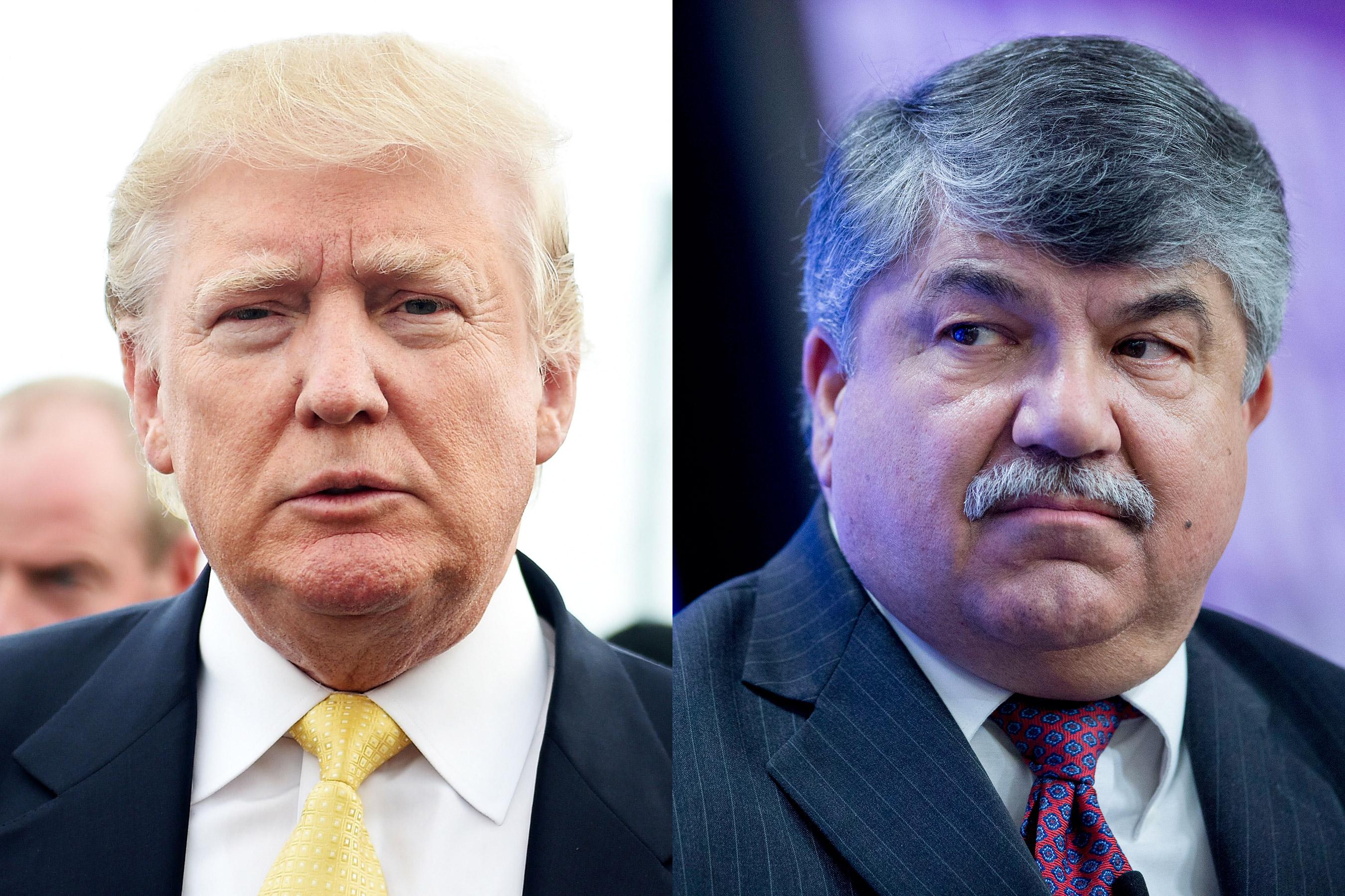 From left: Donald Trump; Richard Trumka