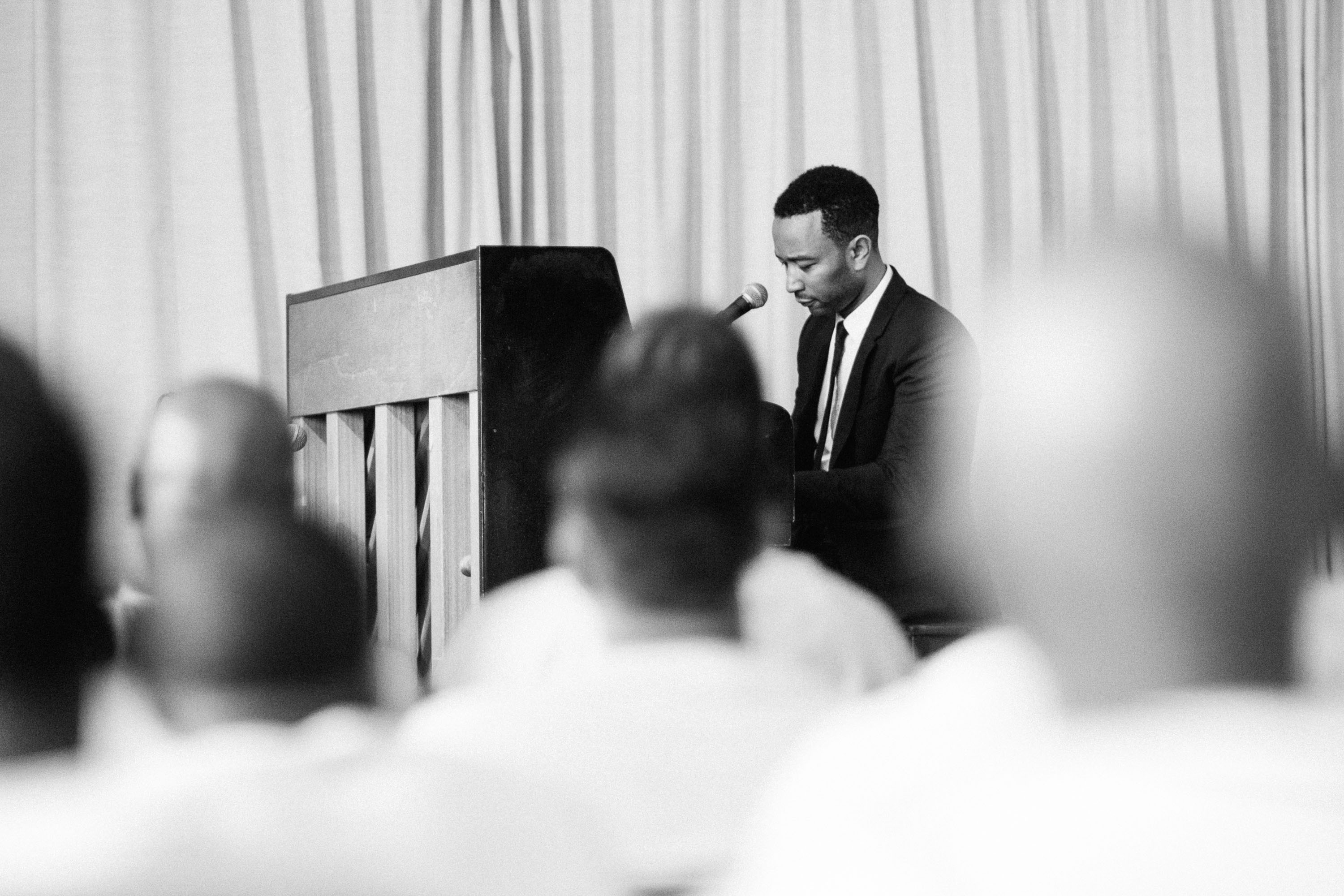 John Legend in the Travis County Correctional Complex in Austin, TX, on April 16, 2015.