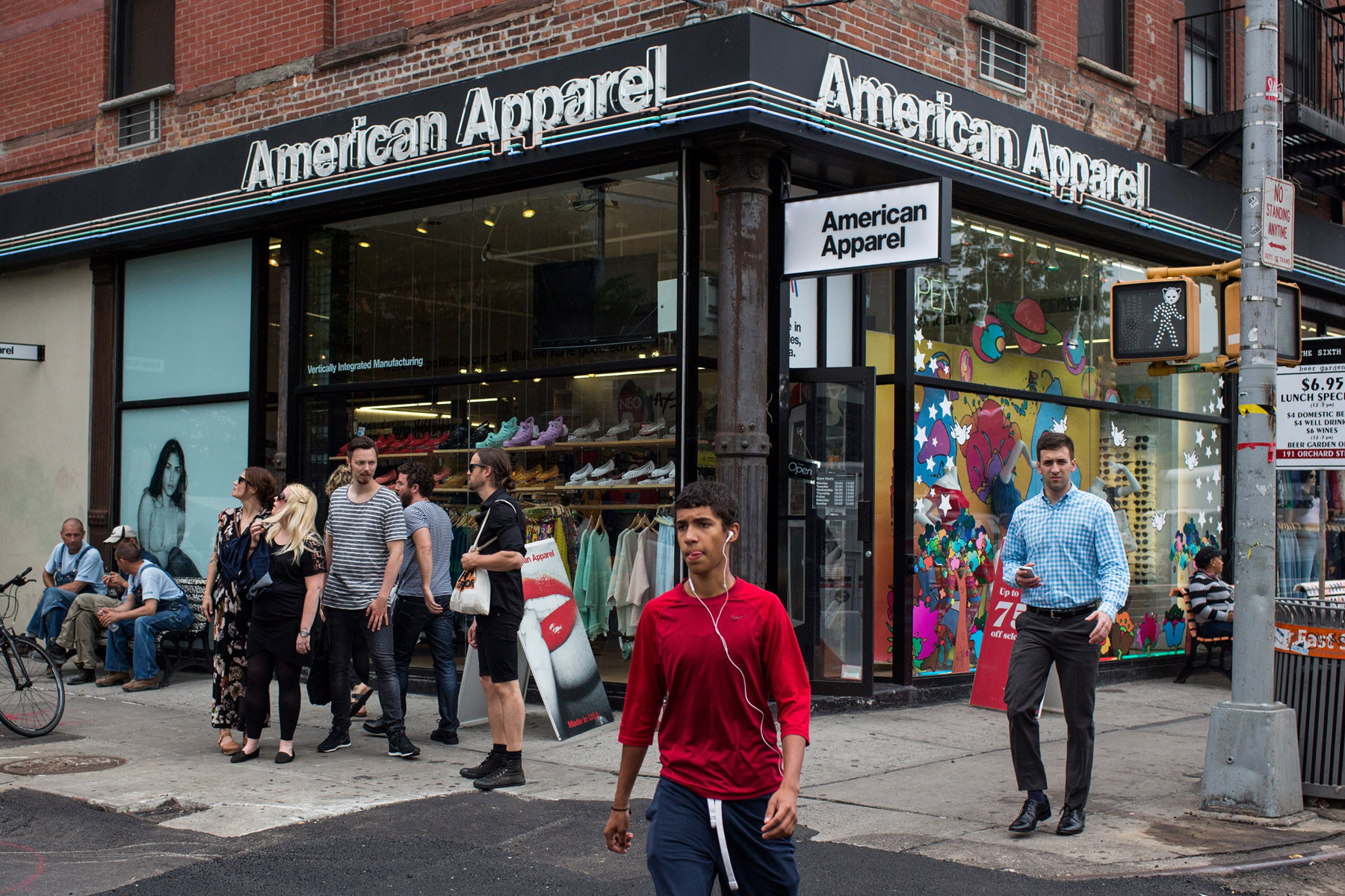 An American Apparel store.