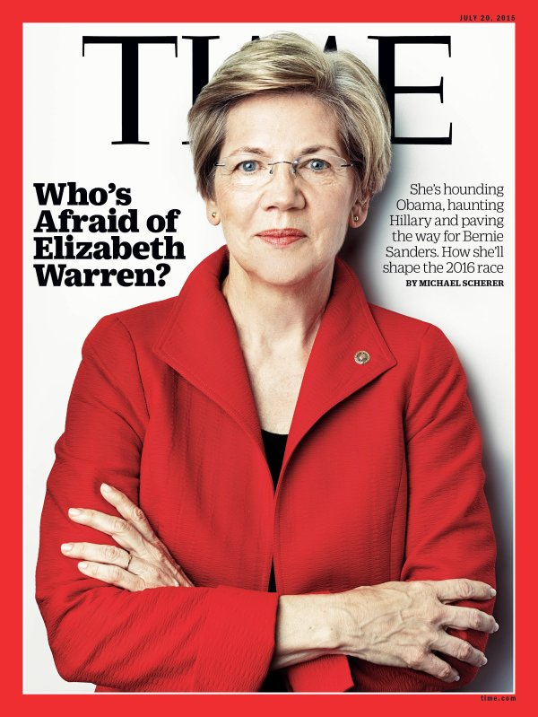 TIME Magazine Who's Afraid of Elizabeth Warren   Time