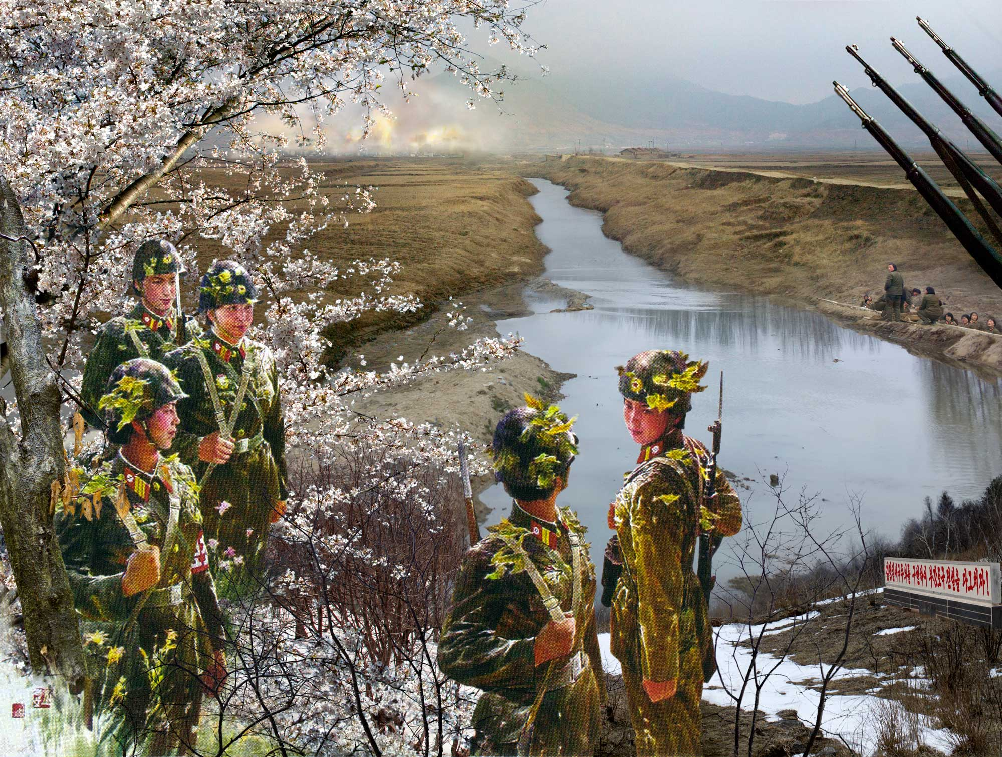 Battle in Spring. From series North Korea - A Life between Propaganda and Reality.