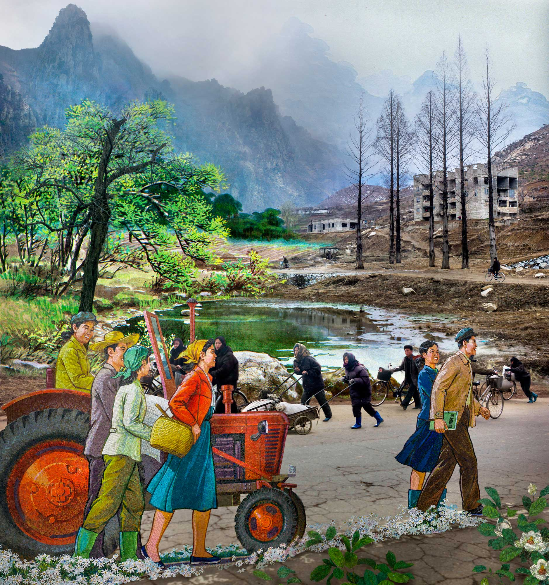 Countryside. From series North Korea - A Life between Propaganda and Reality.