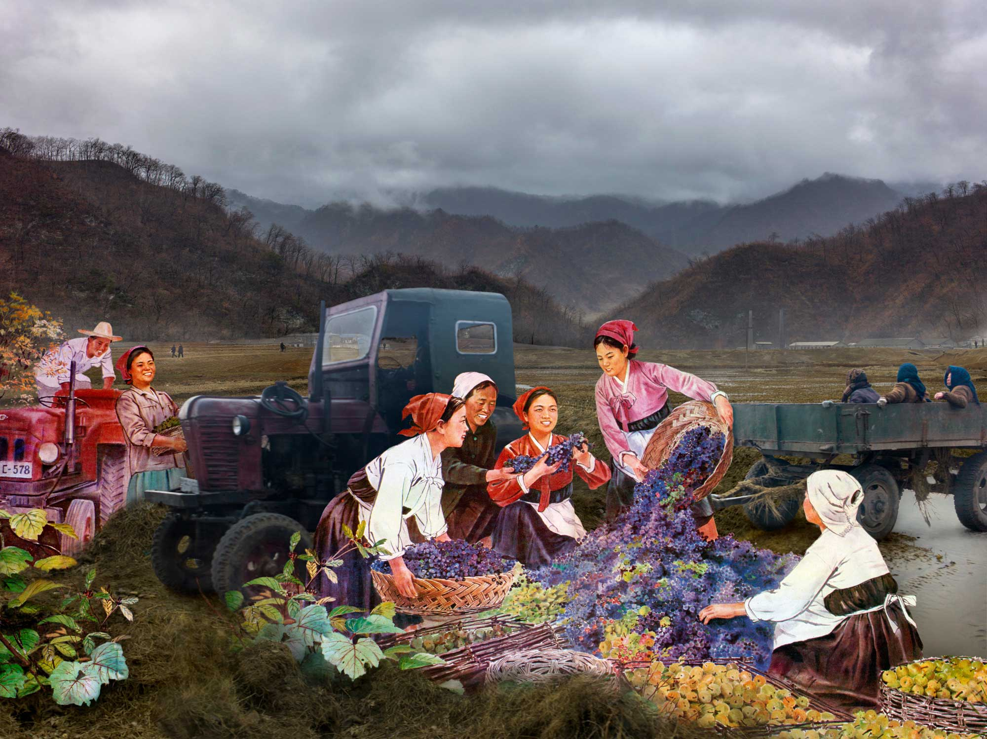 Harvest Time. From series North Korea - A Life between Propaganda and Reality.