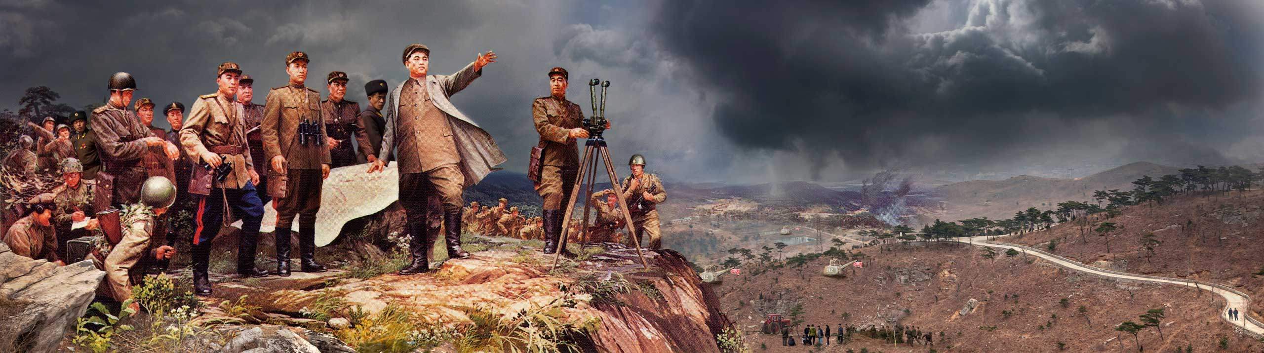 Leading the Troup. From series North Korea - A Life between Propaganda and Reality.
