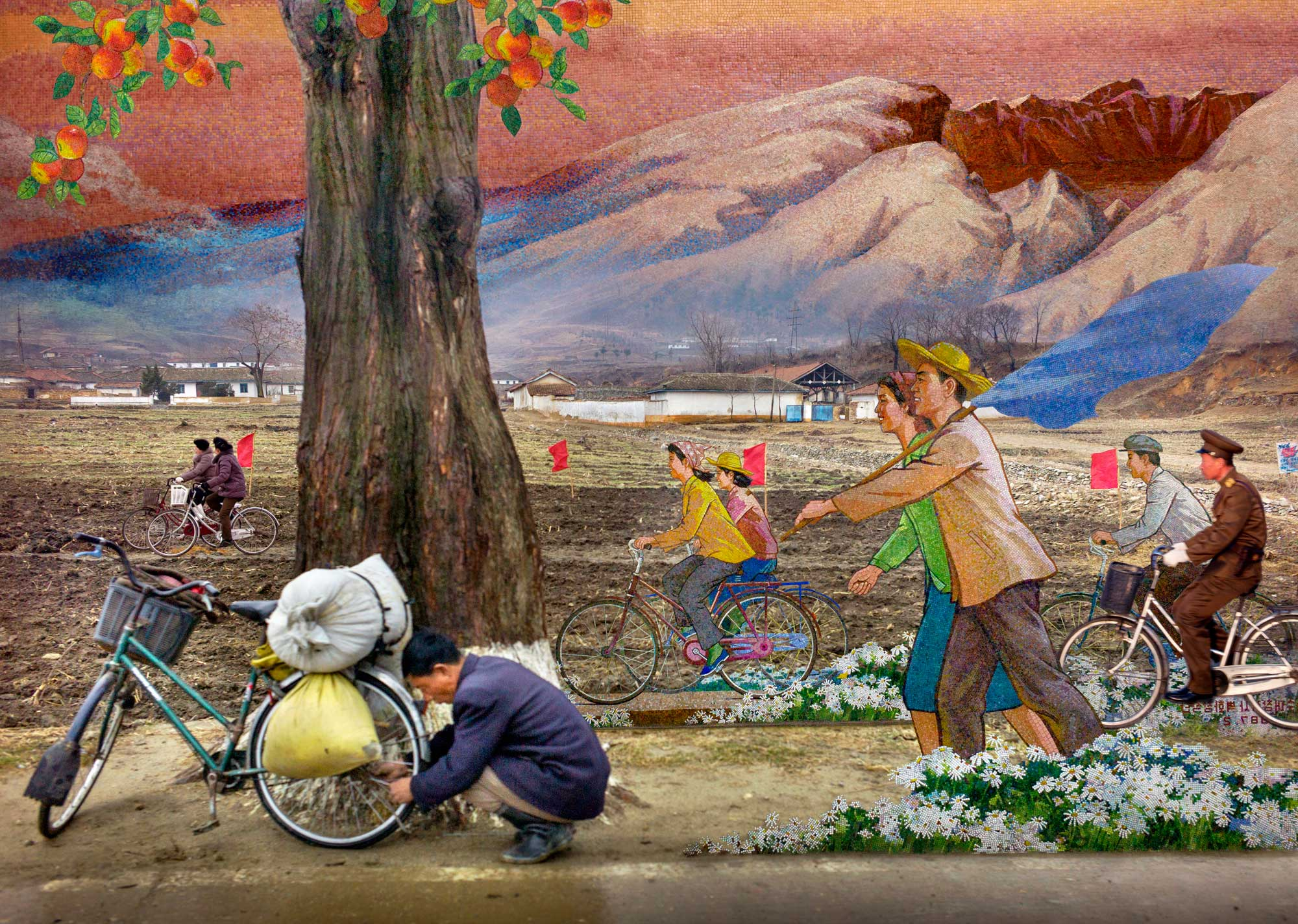 Moving Forward. From series North Korea - A Life between Propaganda and Reality.