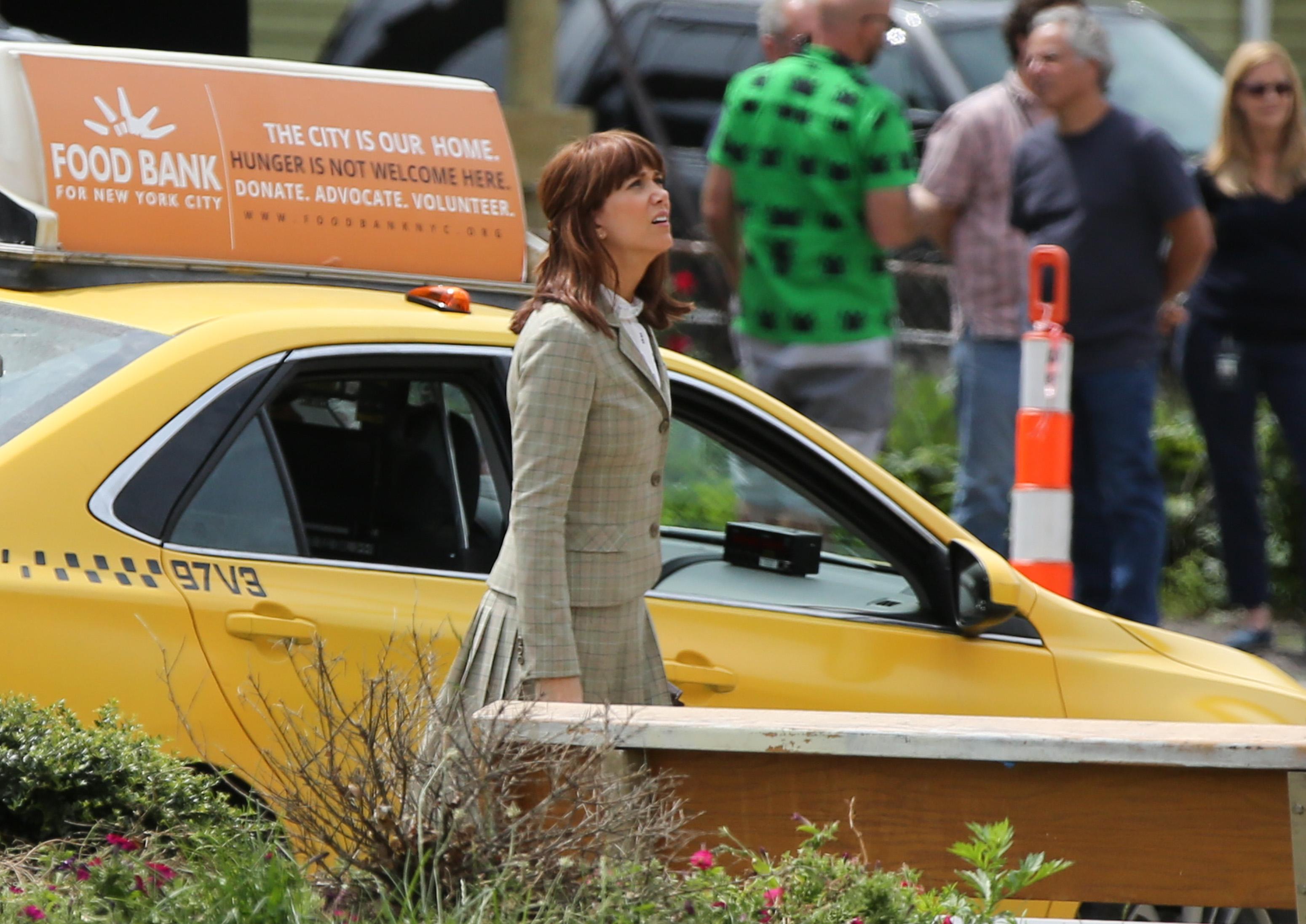 Kristen Wiig is seen on the set of 'Ghostbuster' in Boston on June 18, 2015 in Boston, Massachusetts.