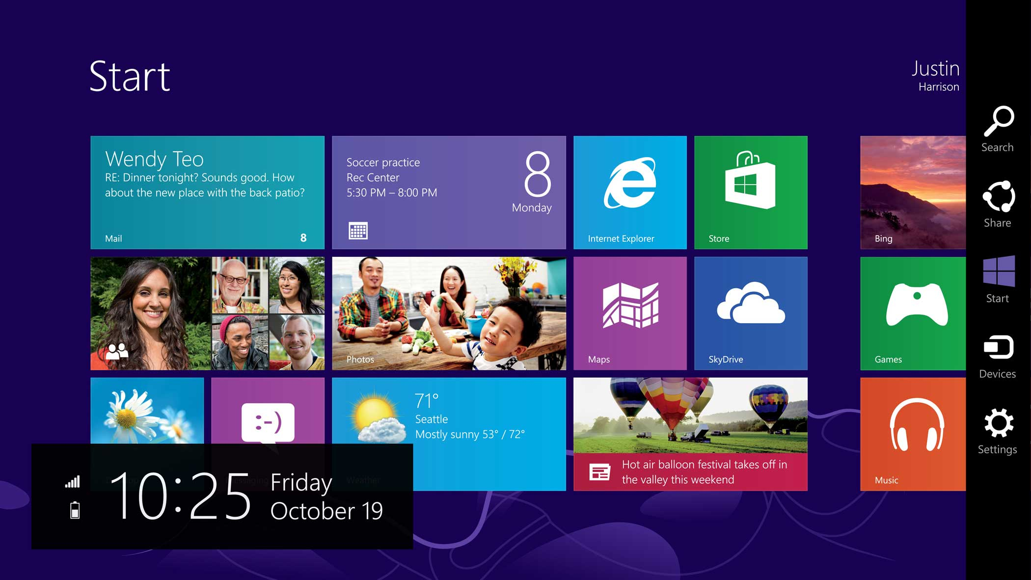 Windows 8 released on October 26, 2012, attempted to radically redesign the start screen with  Live Tiles,  a grid of commonly used apps designed for easy touching. The vast majority of Windows users continued to use the desktop PC's, however, and found the redesign, particularly the loss of the Start button, disorienting.