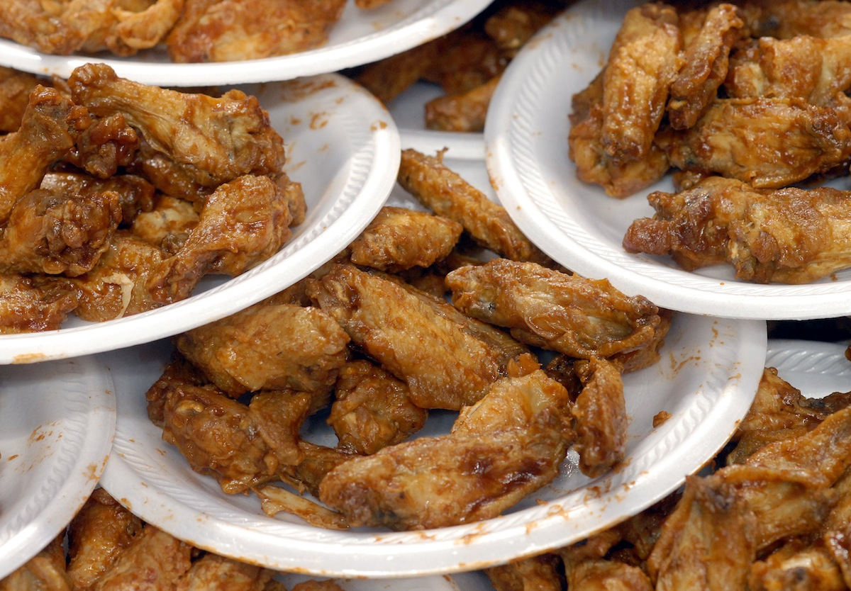 Football Fans And Competitive Eaters Attend Annual  Wing Bowl