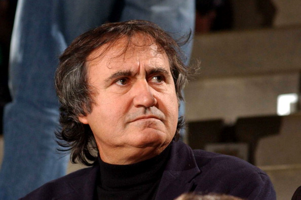 Luigi Brugnaro looks over during the Lega Basket Serie A match between Umana Venezia and Armani Jeans Milano at Palaverde in Treviso, Italy, on Dec. 11, 2011