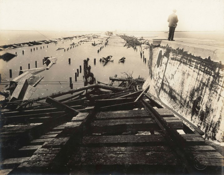 Scenes from the 1915 Galveston Texax Hurricane