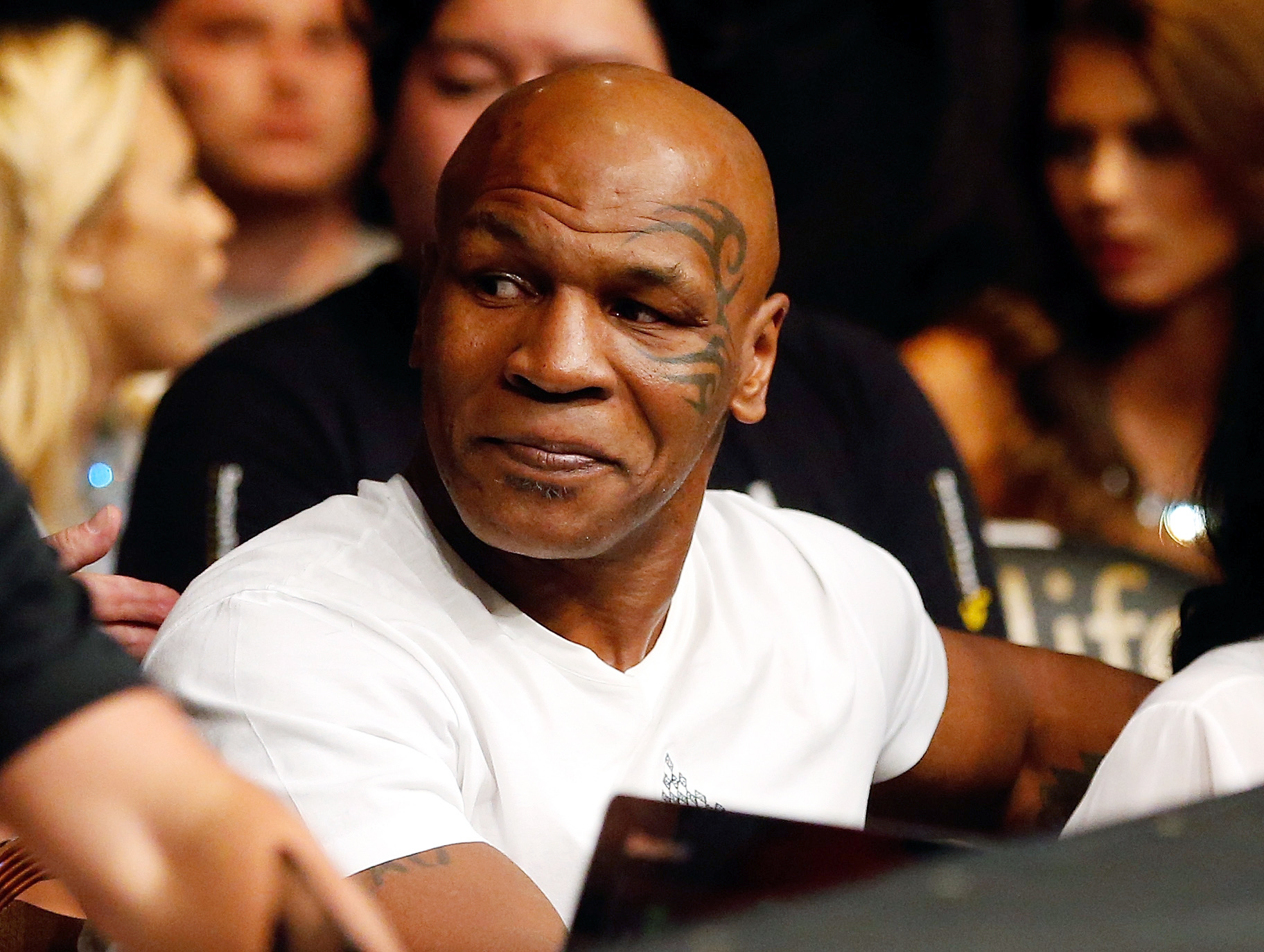 Former boxing champion Mike Tyson at the UFC 189 event on July 11, 2015 in Las Vegas.