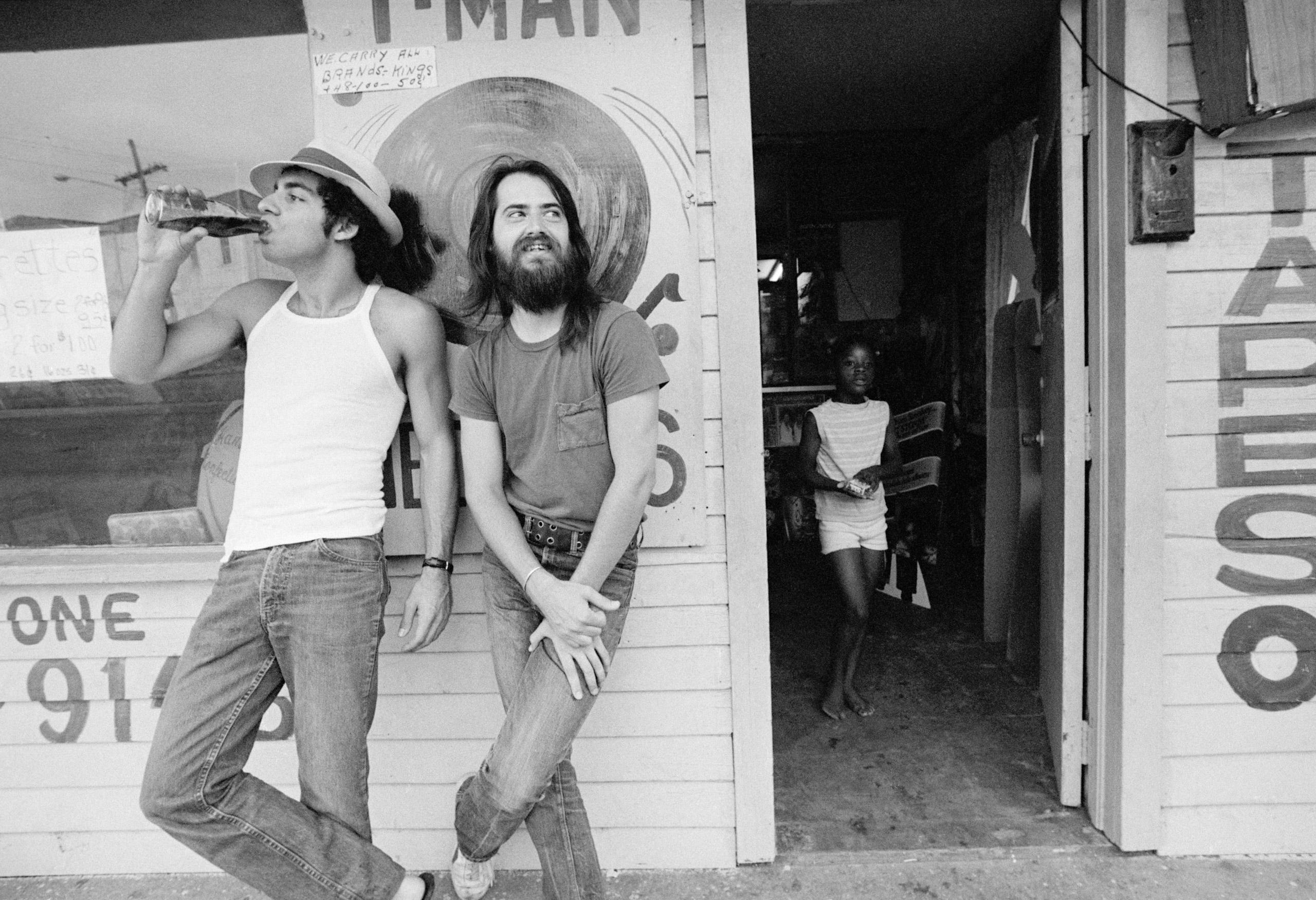 Steve Van Zandt and Garry Tallent in New Orleans.