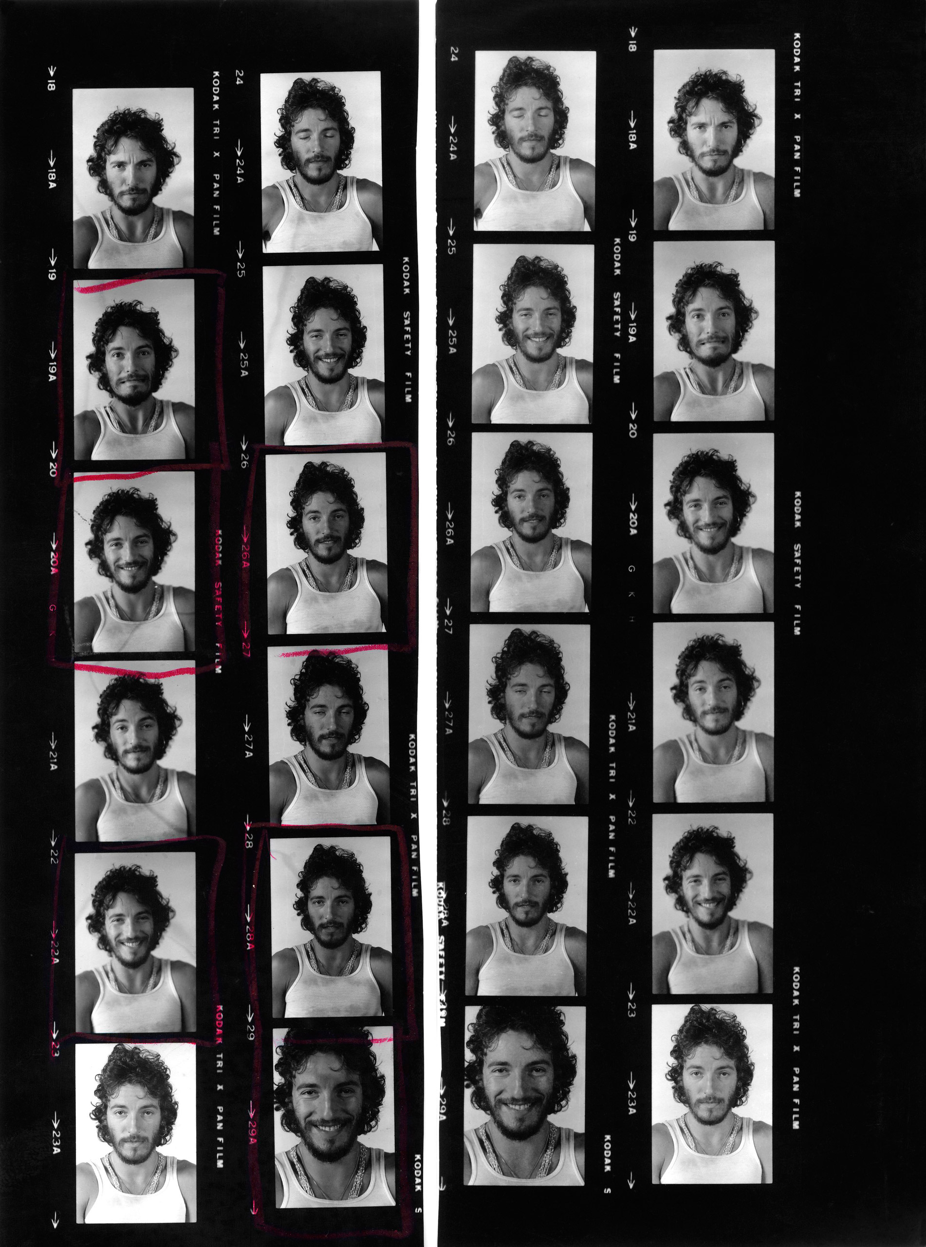 Passport photos Pyle took for Springsteen.