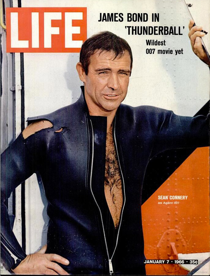 January 7, 1966 cover of LIFE magazine with Sean Connery.