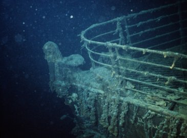 ca. 1985 --- The prow of the HMS Titanic, as she lies on the Atlantic Ocean floor south of Newfoundland.