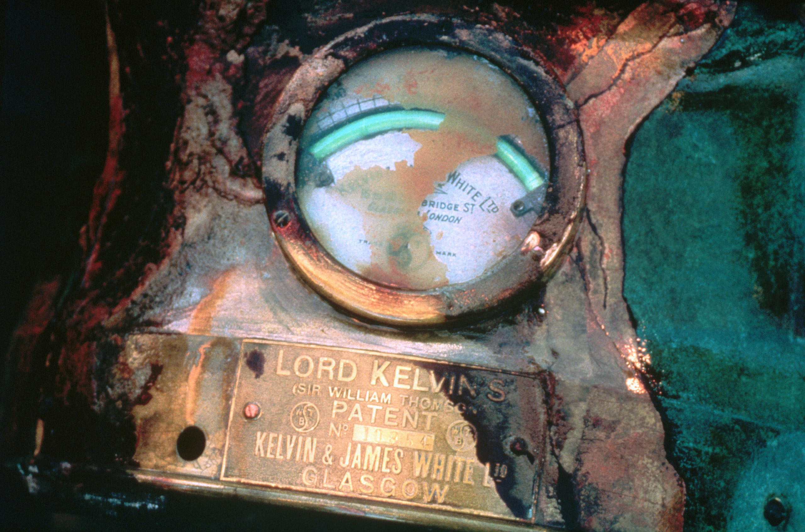 ca.1987-1991 --- An electric meter for the electric light from the compass of the Titanic was recovered from the shipwreck.