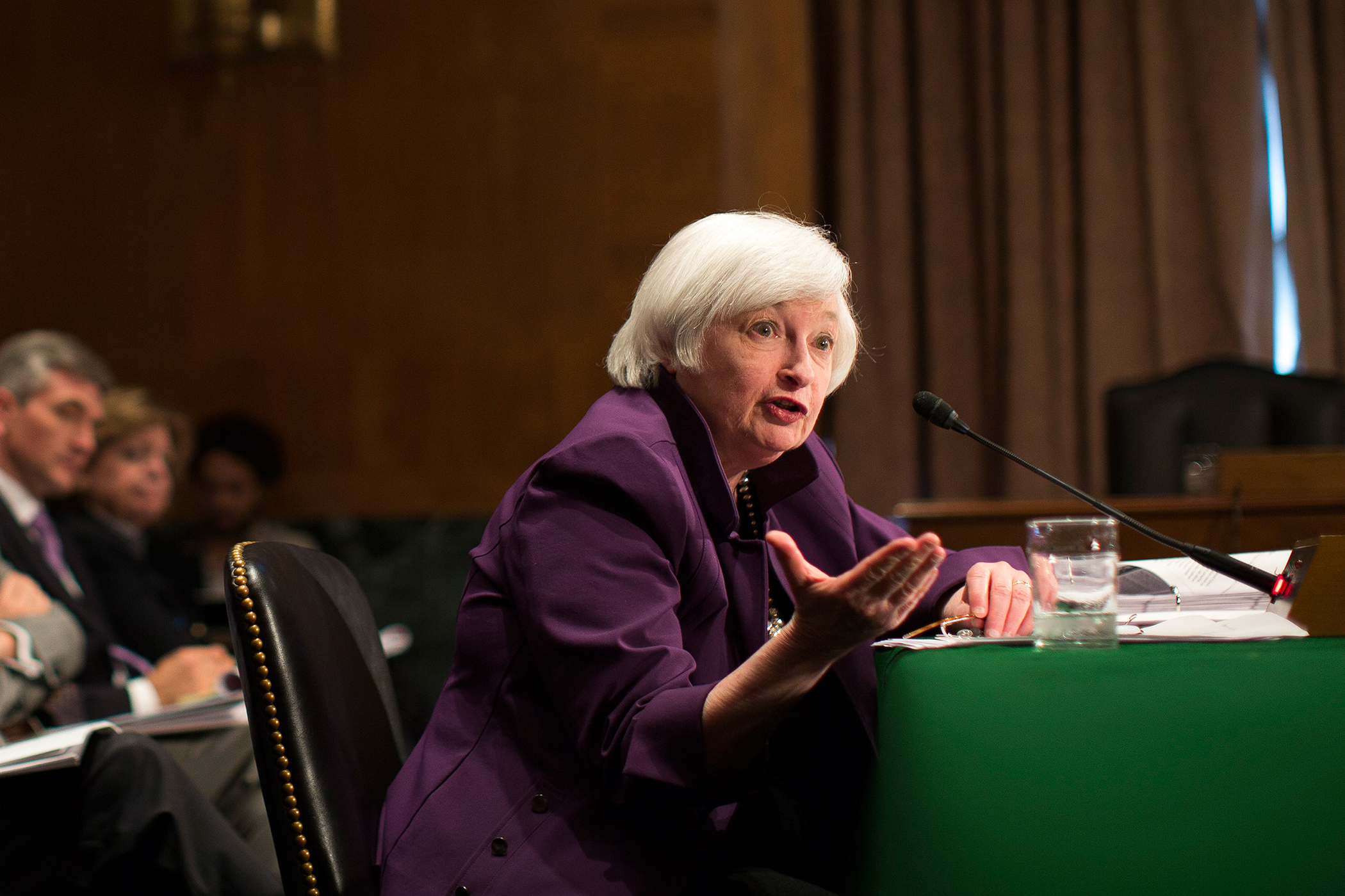 Janet Yellen, chair of the U.S. Federal Reserve, speaks during her semiannual report on the economy to the Senate Banking Committee in Washington, D.C. on  July 16, 2015.