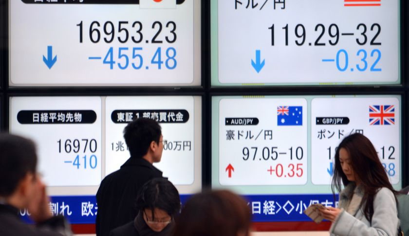 Japan's Nikkei index had its biggest one-day fall in nearly 10 months in the wake of Monday's carnage on Wall Street.