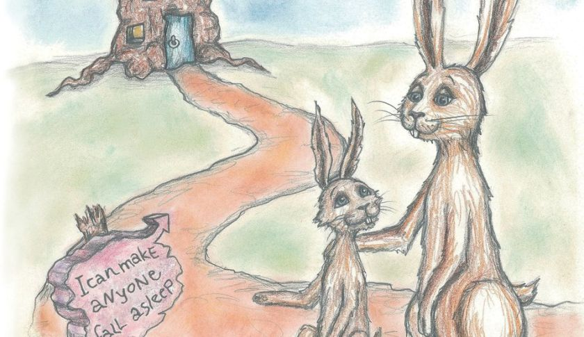 An illustration from 'The Rabbit Who Wants to Fall Asleep.'