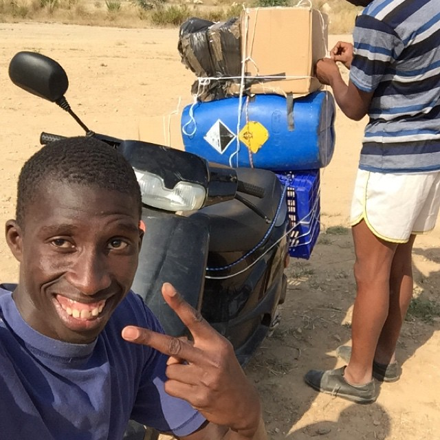 The superbike for the first stage. I don't know what will waiting for. Problems tears and cold but now im positive my friend hagi take me to nouadhibou. #ontheroad#travelgram#jujuy#nicetime#discover#explore#instagood#instadaily#exploremore#backpackers#adventure