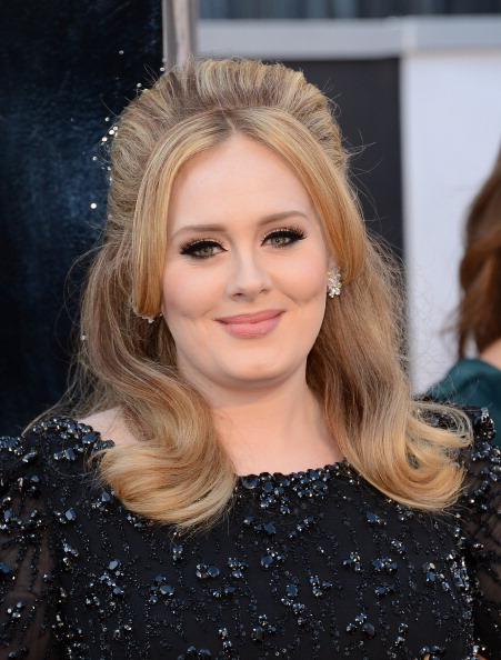 Adele at the Oscars in Hollywood on Feb. 24, 2013.