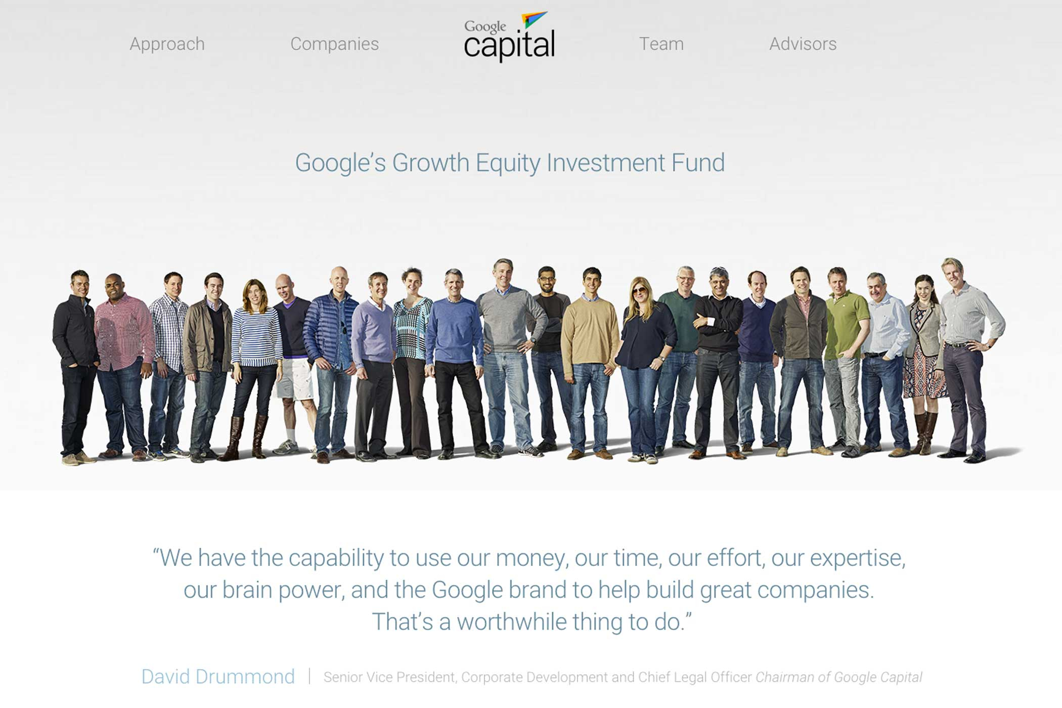 Capital: This investment arm focuses on late-state growth companies, and like Google Ventures, operates independently of Google's consumer-product businesses.