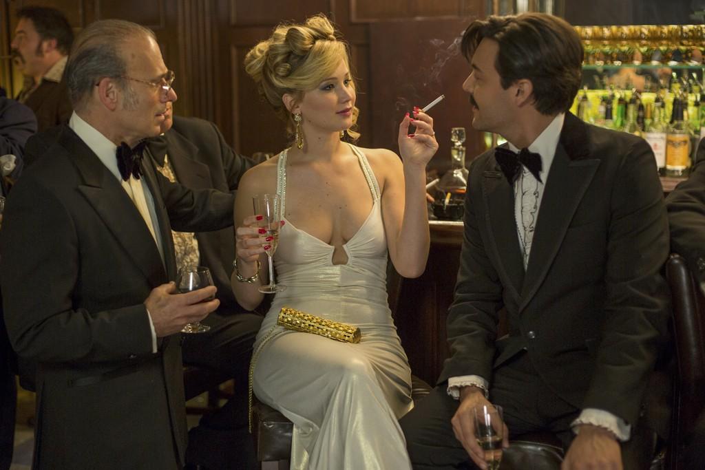 Jennifer Lawrence as Rosalyn Rosenfeld in American Hustle.