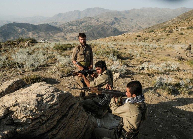 American Ryan O'Leary fighting Iraq