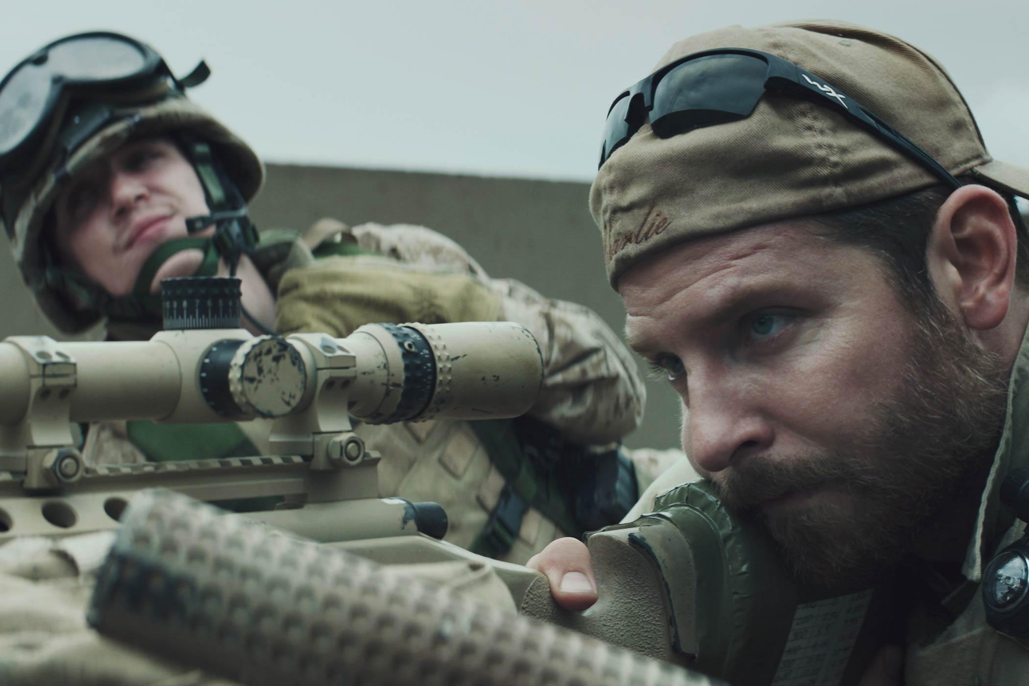 Bradley Cooper in American Sniper in 2014.