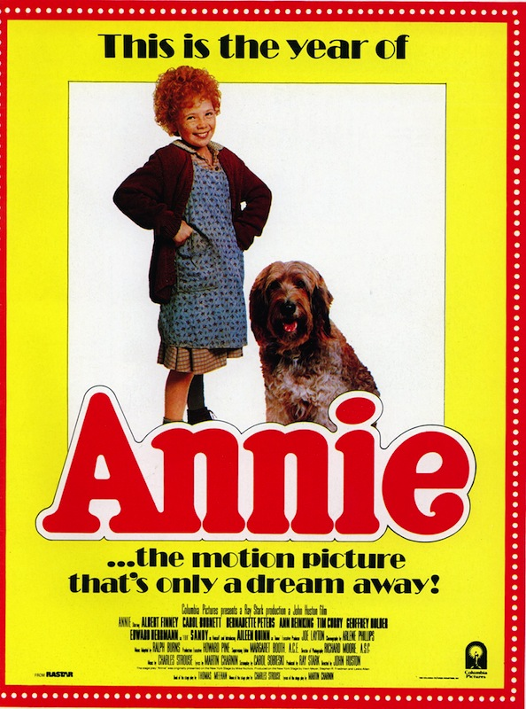 A poster from a movie version of 'Annie'