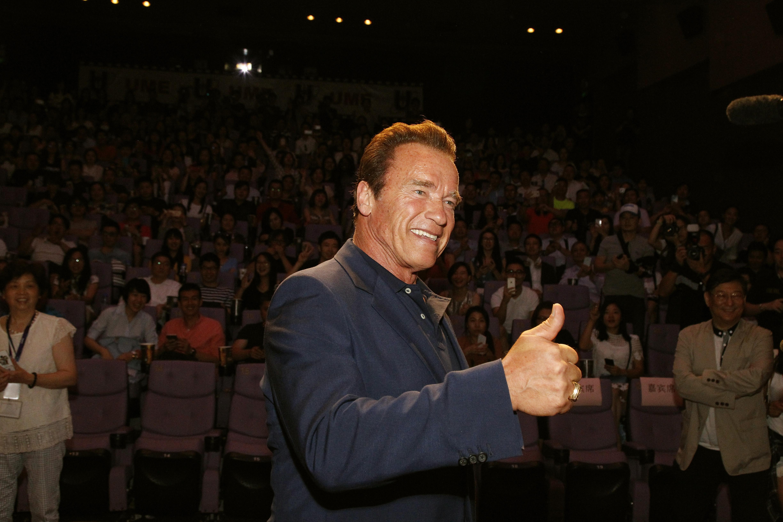Arnold Schwarzenegger at a screening on Aug. 18, 2015 in Shanghai.