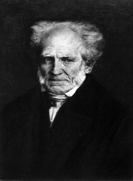 Painting of Arthur Schopenhauer (1788-1860), German philosopher.