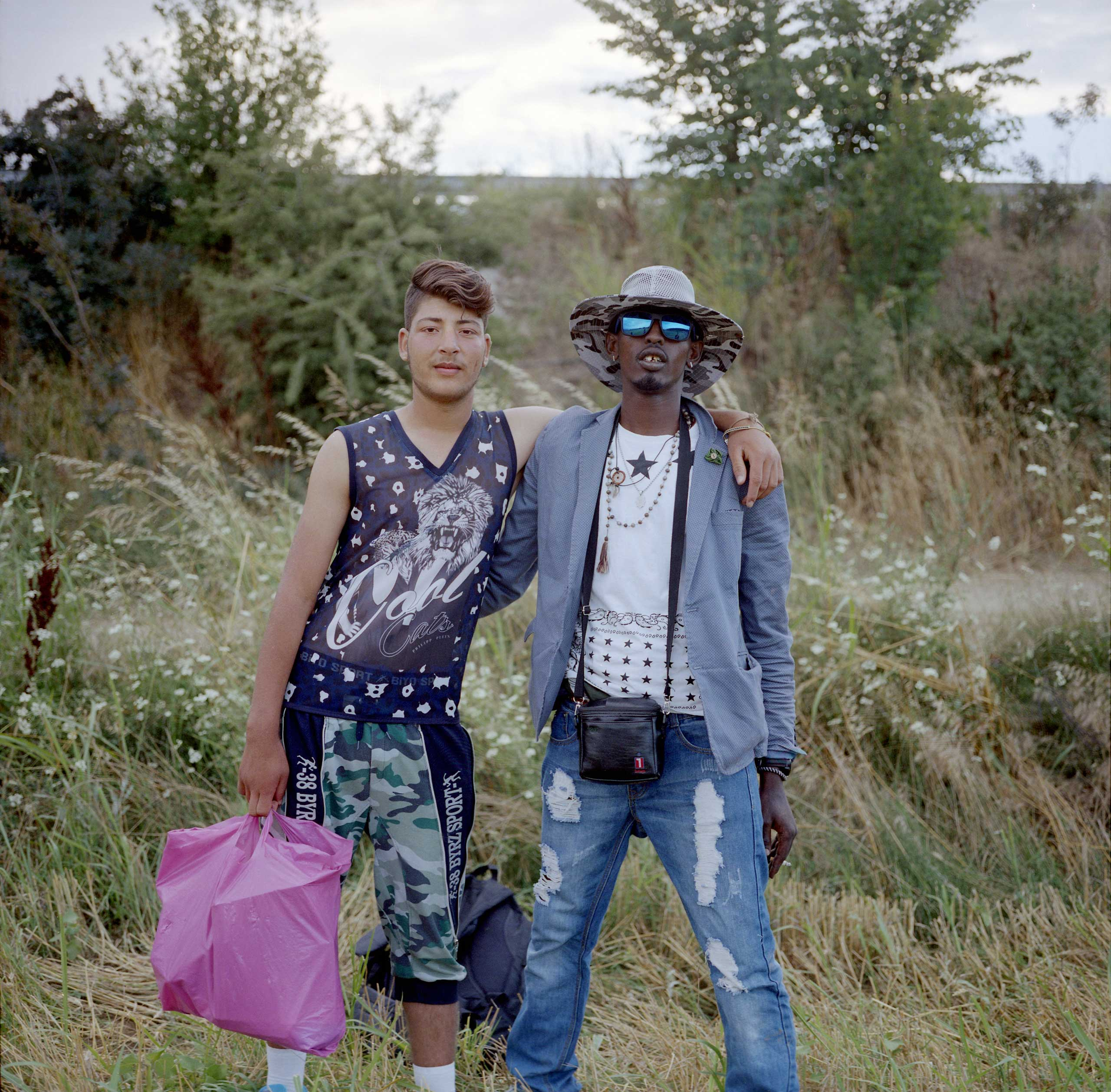 Afghan and Somali refugees met in a group of people trying to cross illegally by walking through the fields and forests from Northern Greek town of Idomeni into Macedonia. Greece, June, 2015.
