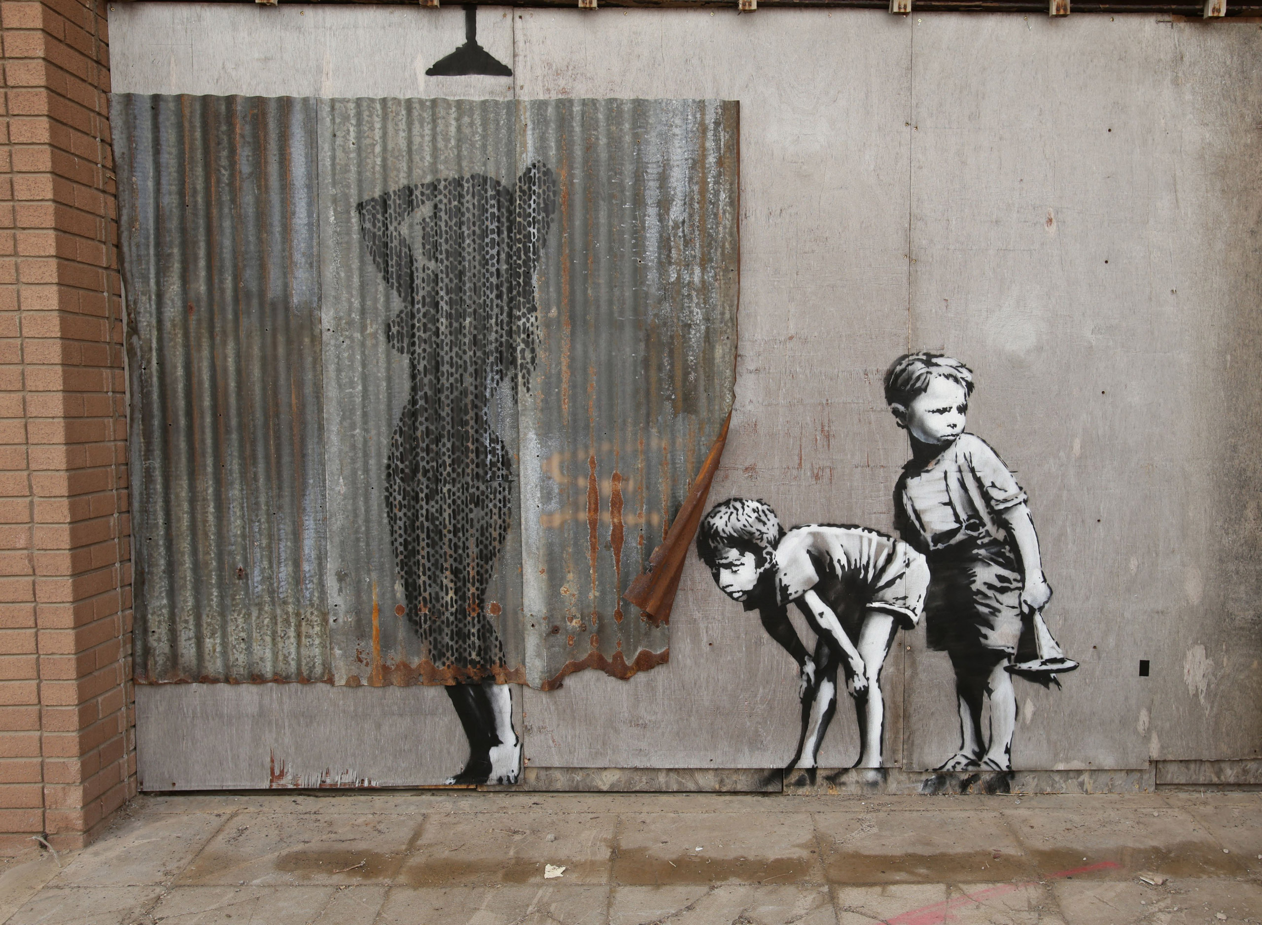 A piece by Banksy.