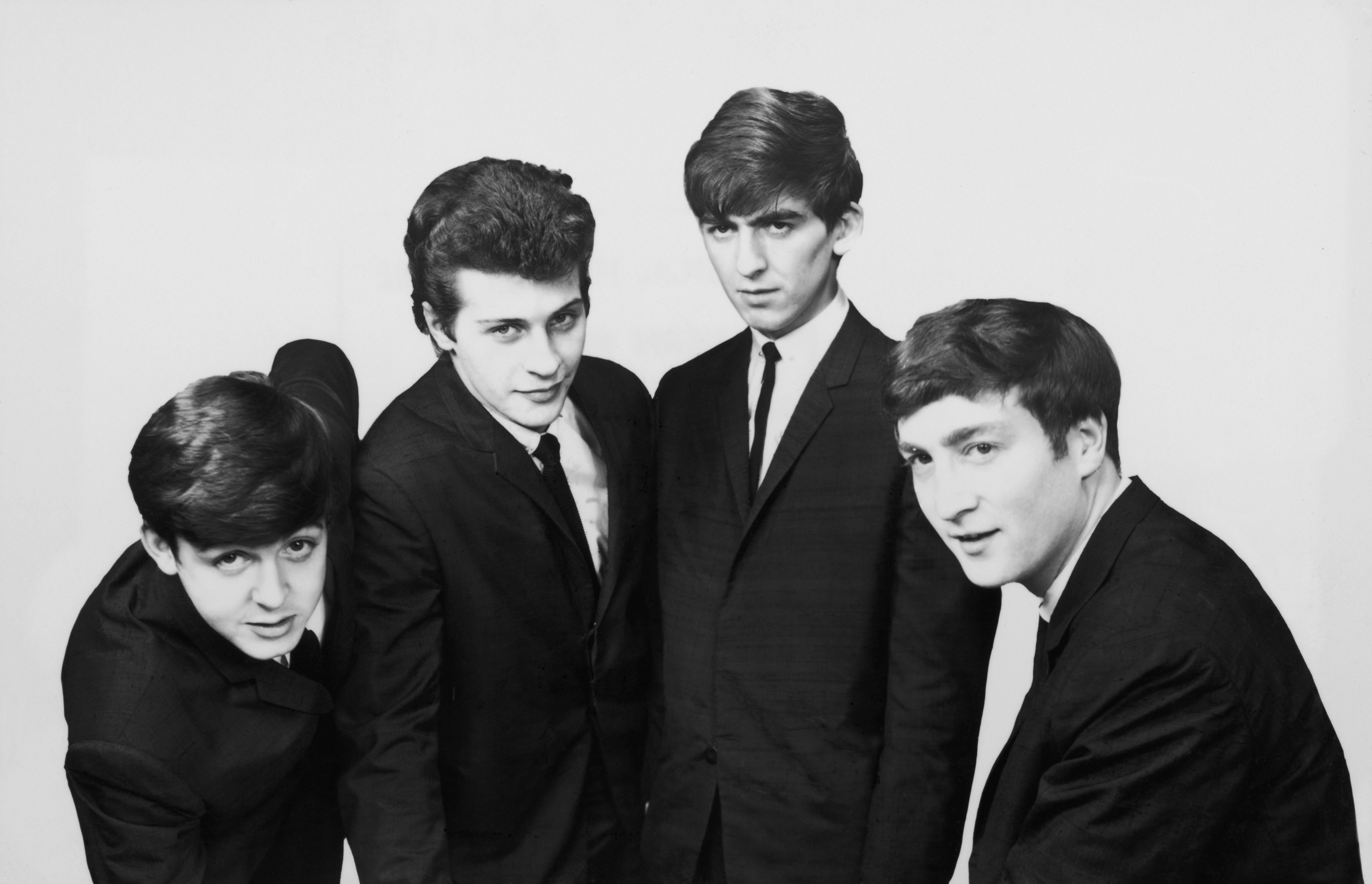 An early portrait of The Beatles.