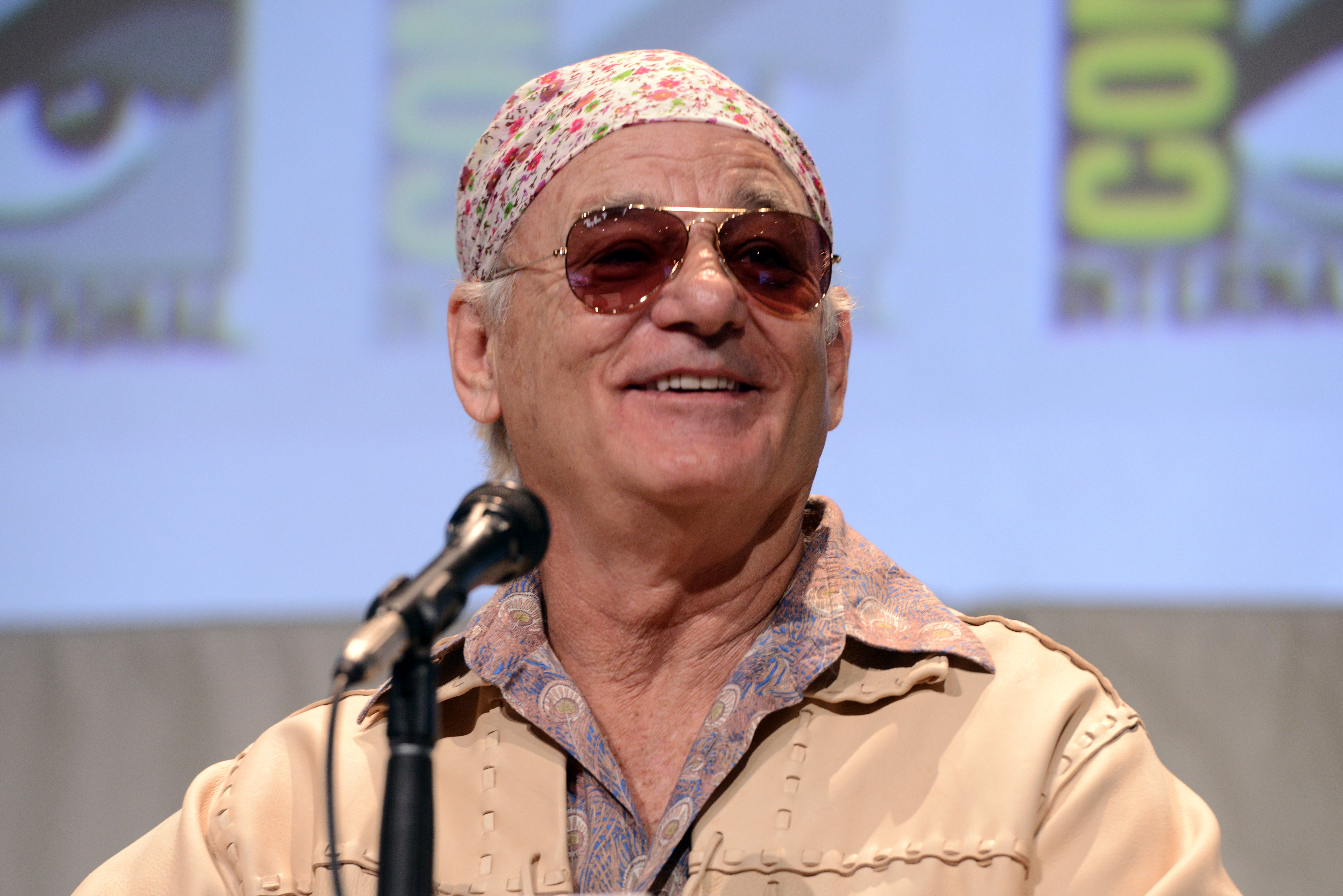 Bill Murray speaks at Comic-Con International 2015 in San Diego on July 9, 2015.