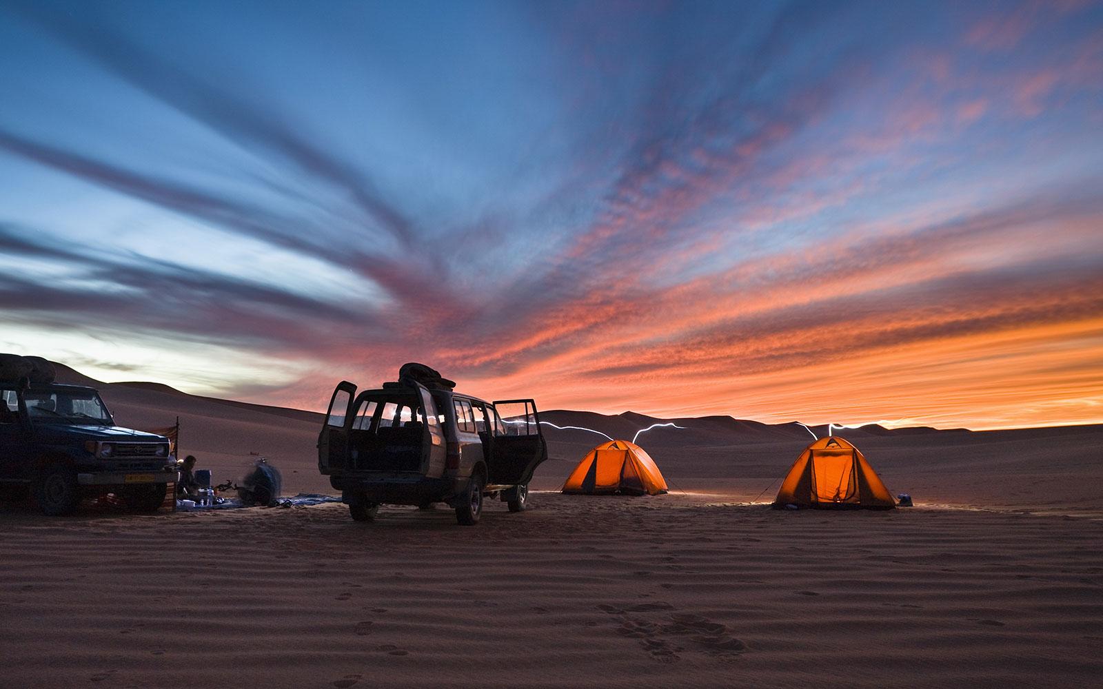 camping in the libyan desert, Libya, Sahara, Africa