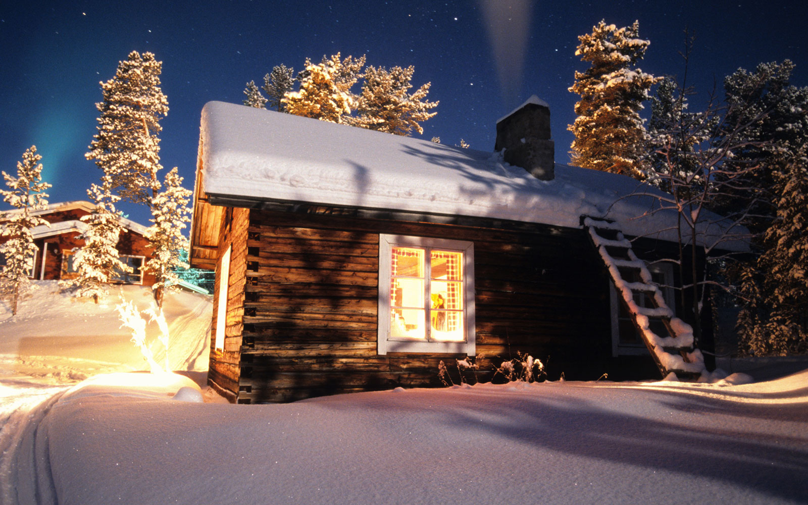 Europe, North Europe, Scandinavia, Finland, Lapland, Lemmenjoki, A very old and original house of the Sami people.