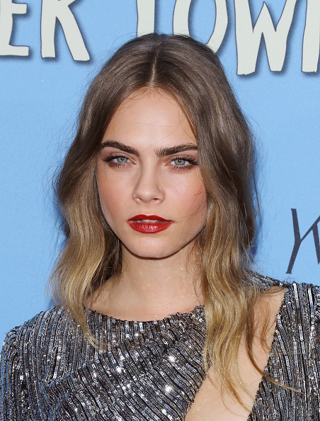 Cara Delevingne at the  Paper Towns  New York premiere in New York City on July 21, 2015.