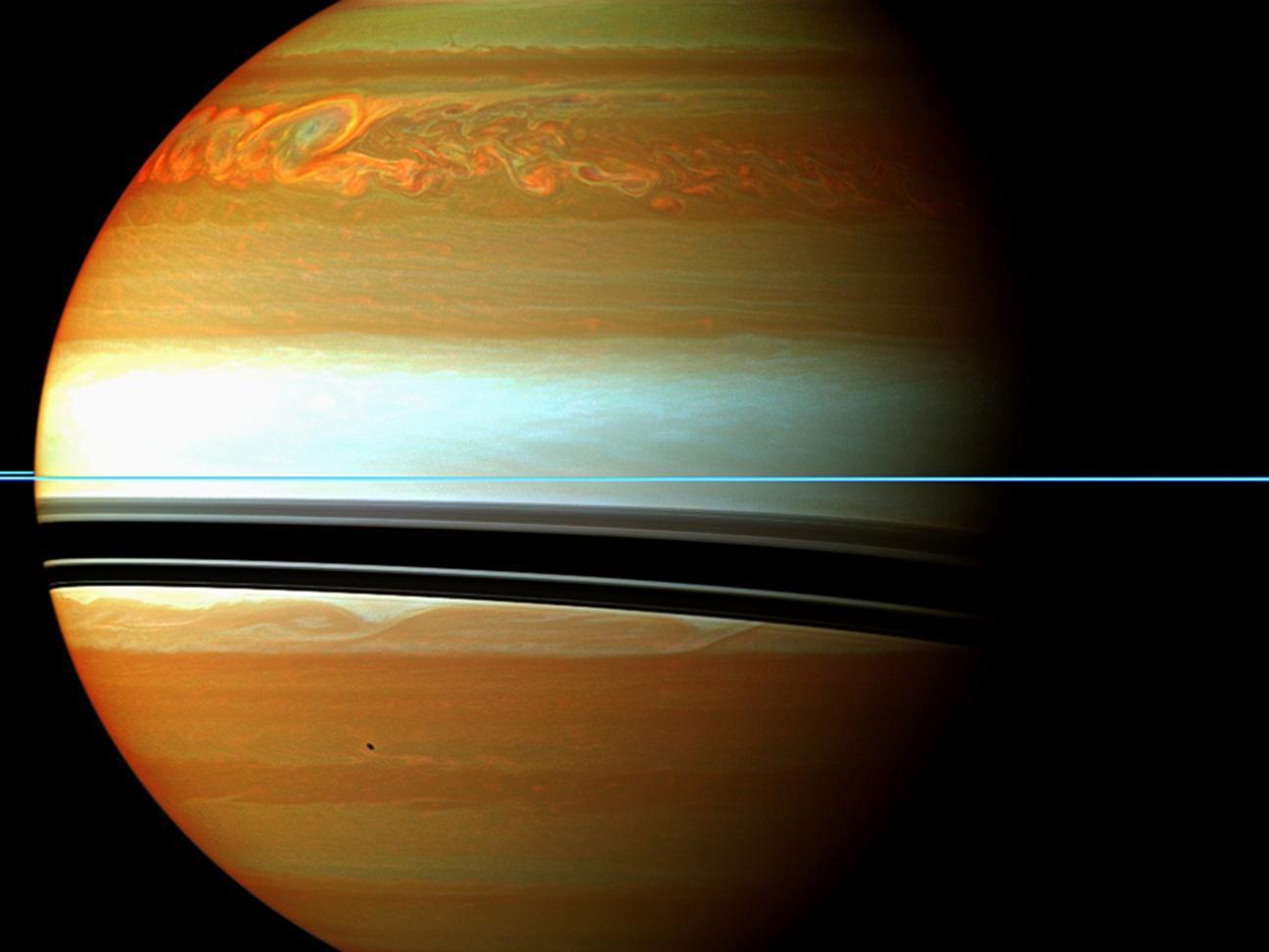 A huge northern storm on Saturn In mid-Sept. 2004.