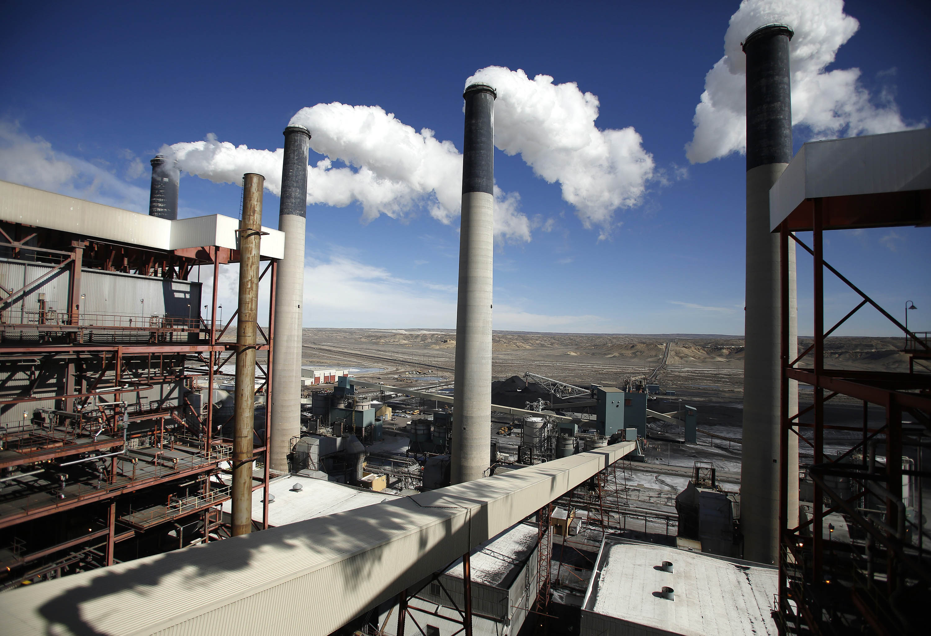 Coal plants like this one in Wyoming may eventually be closed under new climate regulations.