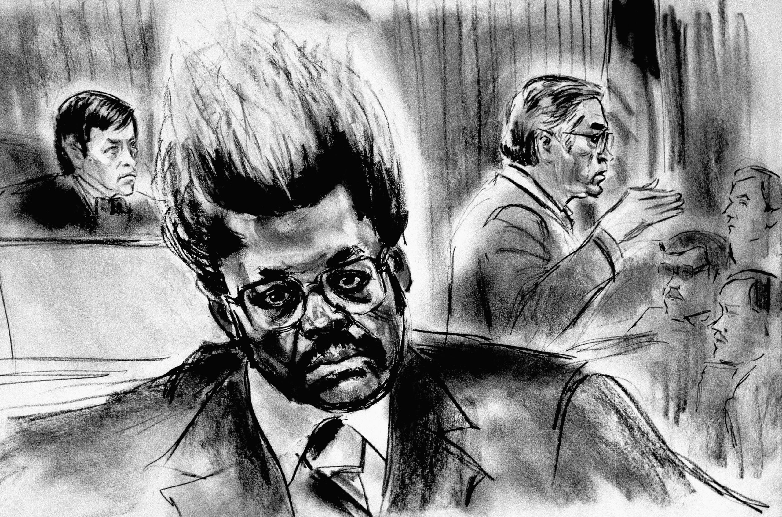 Don King in court on Oct. 7, 1985 in New York for allegedly trying to evade thousands of dollars in federal income taxes. King was acquitted.