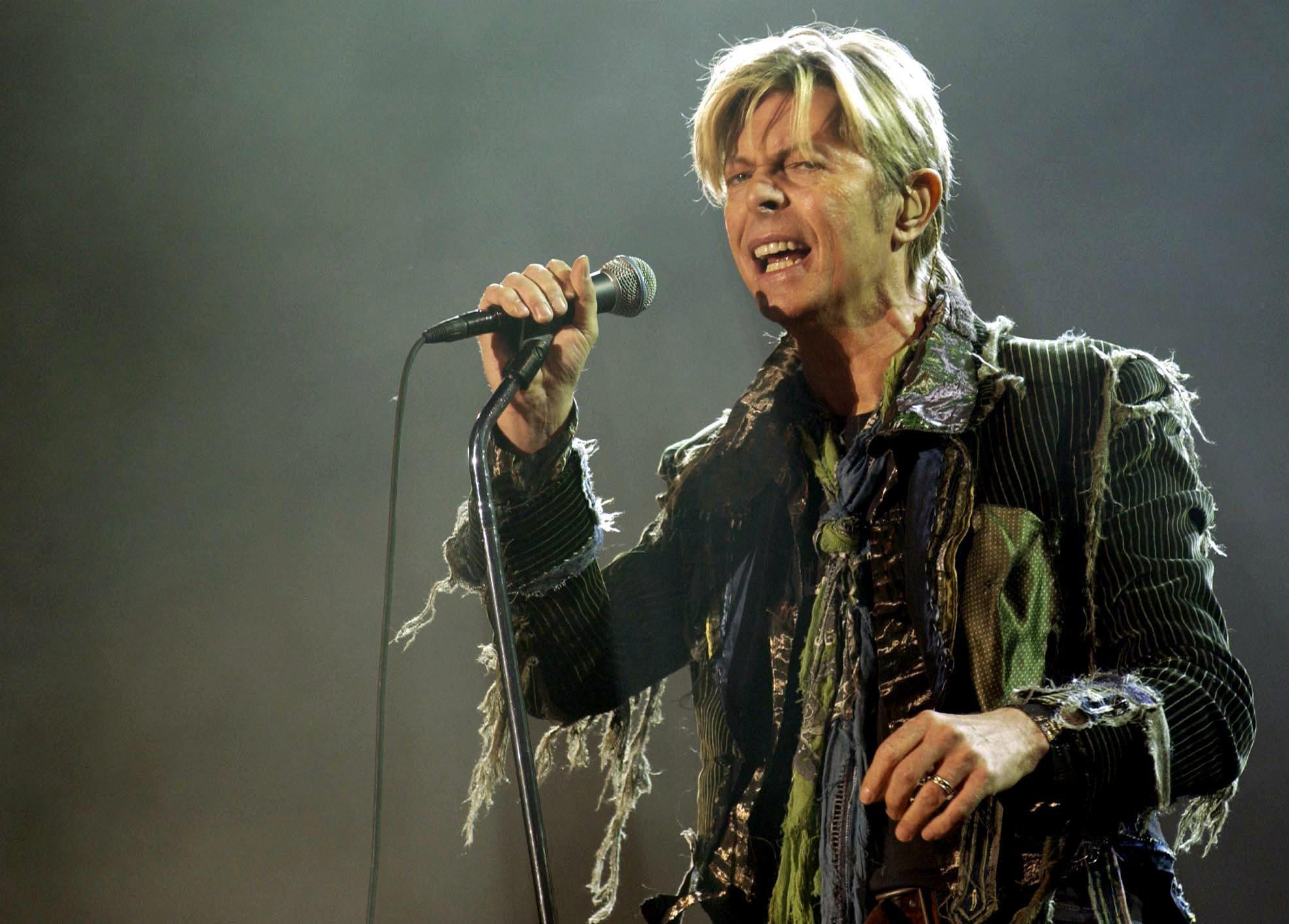 File photo of David Bowie dated June 13, 2004.